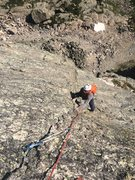 Rock Climbing Photo: Halfway up The Culp. Thanks for the pic Mike!
