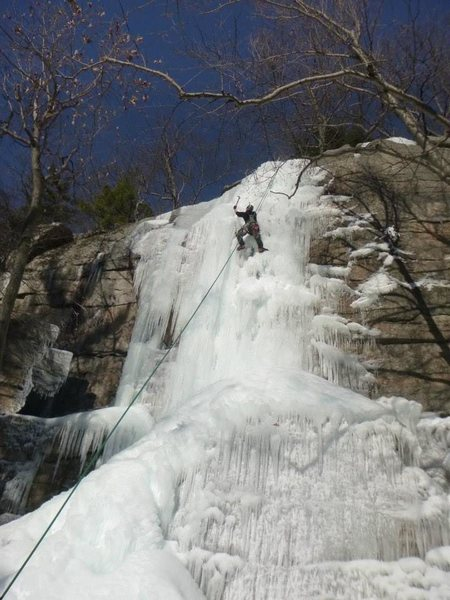 Rock Climbing Photo: Ken's Crack, winter edition