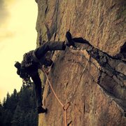 Rock Climbing Photo: Super rad crux beta.