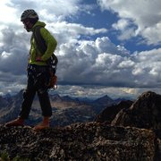 Rock Climbing Photo: At the top of North Early Winters Spire, WA