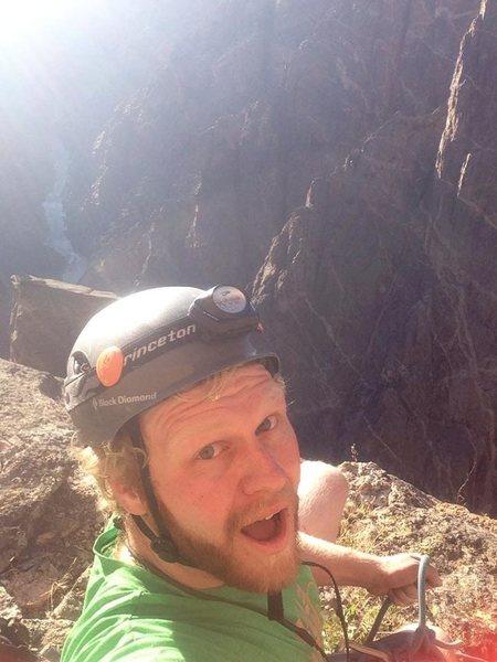 First multi pitch climb.<br> Dark Star, Black Canyon.