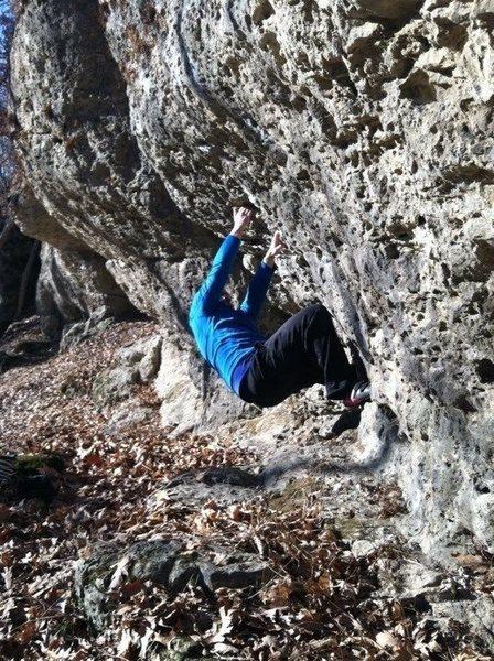Bouldering at Pictured Rocks.