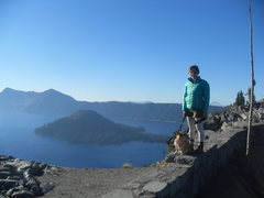 Rock Climbing Photo: Crater Lake with the pup!