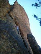 Rock Climbing Photo: Aaron Parker on My Little Pony - Smith Rock Oregon