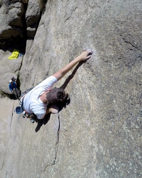 Rock Climbing Photo: Miss Wyoming (5.9) in Elevenmile Canyon, CO.