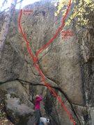 Rock Climbing Photo: Sudoku and Positively Powerful
