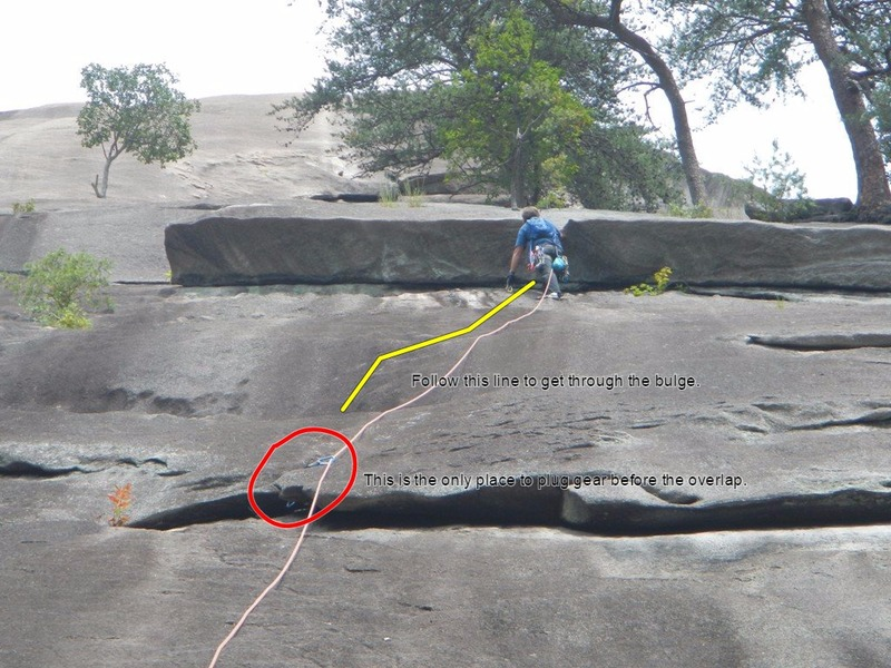 Rock Climbing Photo: Placing pro at the overlap. This also shows a bett...