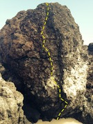 Rock Climbing Photo: Face route, good mix of balance and power problem....