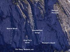 Rock Climbing Photo: Google Earth view of the Sentinel Creek Area