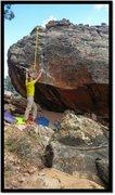 Rock Climbing Photo: Start and problem beta of Phallic Fiction.