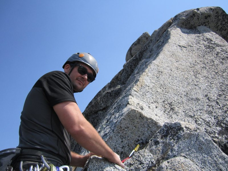 Rock Climbing Photo: Prusik Peak the enchantments. 5.7 slab pitch