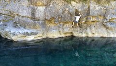 "Rock Climbing Photo: ""Deep Water Solo"" in the casades"