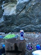 Rock Climbing Photo: Breakfast of champions at the Nevermind Wall Exit ...