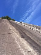 Rock Climbing Photo: Will leading the 4th pitch water groove that offer...