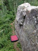 Rock Climbing Photo: East face of Moose boulder