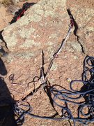 Rock Climbing Photo: The anchor area showing the best cracks.