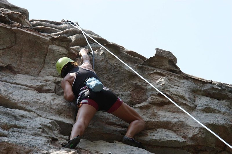 "Rock Climbing Photo: ""That 8 "" was EPIC even on top rope"