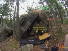 Rock Climbing Photo: Holly the Happy Heel Hooker: not sure if I climbed...