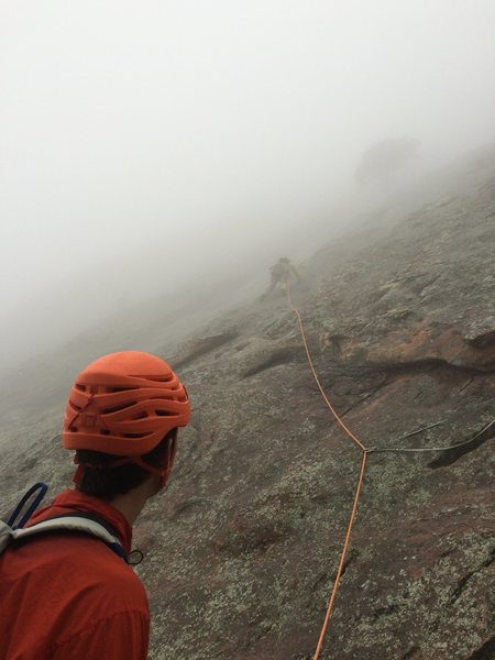 Unknown climbers enjoying alpine conditions on the Third.