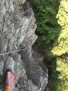 Rock Climbing Photo: Half way there