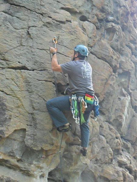 Rock Climbing Photo: Second Bolt on Man Servant