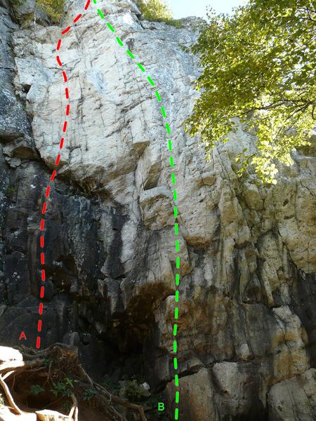 Rock Climbing Photo: A- Les nouveaux mariés 5.10a B- Les divorcés 5.1...