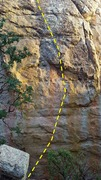 Rock Climbing Photo: 96 Degrees In The Shade.  The route continues anot...