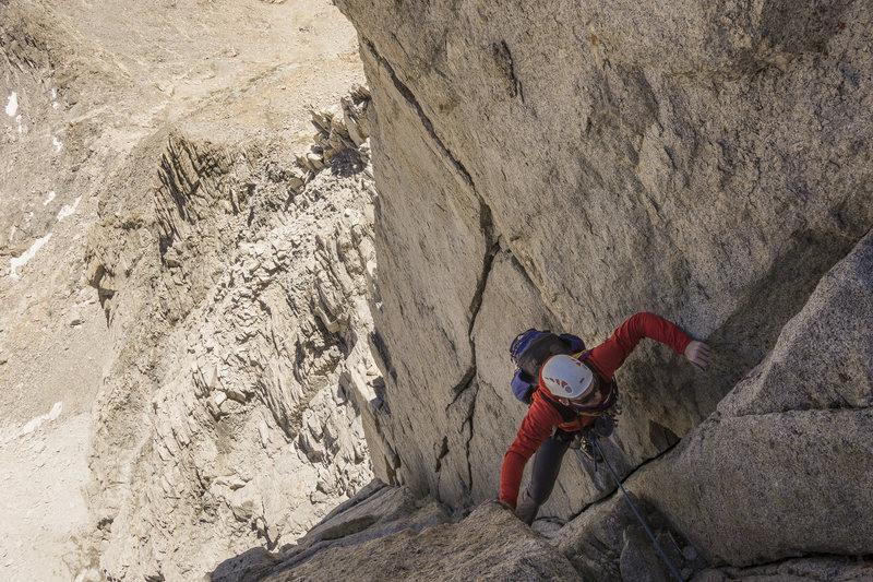 Rock Climbing Photo: Chimney After Crux Pitch