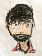 Rock Climbing Photo: me, as drawn by my son