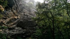 Rock Climbing Photo: This was my first time at The Motherlode. Rainy fe...
