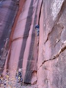 Rock Climbing Photo: Tim Foulkes on the FA.