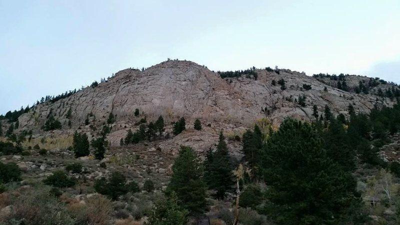 Rock Climbing Photo: The Davis Face as the sun sets.