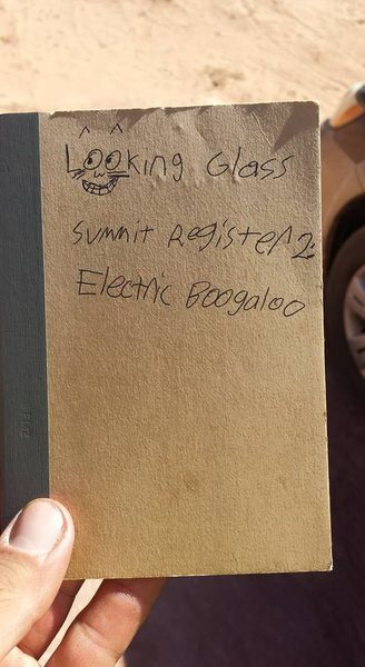 Summit register notebook.
