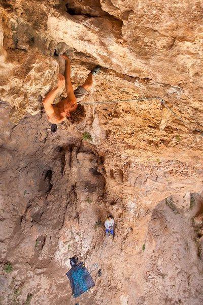Cueva de los Cazadores, Unnamed route, 7b+