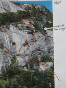 "Rock Climbing Photo: ""A Night Climb..."" is the Red Line, usin..."