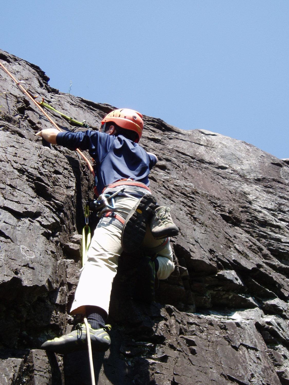 Rock Climbing Photo: Minimum Creep .11b, Red River Gorge October 2009