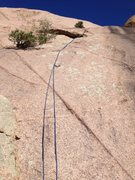 Rock Climbing Photo: A rope on the route.