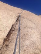Rock Climbing Photo: Looking up the 2nd pitch.  Not all bolts are clipp...