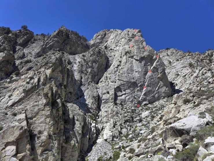 Rock Climbing Photo: The Direct North Ridge