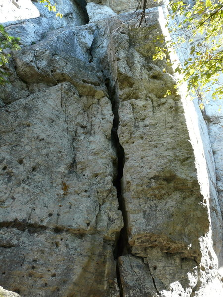 Les sinus déviants 5.11a<br> (just the start is shown on the picture)