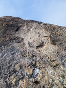 Rock Climbing Photo: My redirected solo-TR set up for both Captain Weir...