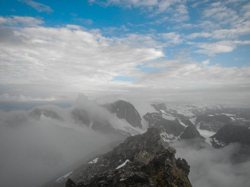 Gannett from Dinwoody Peak