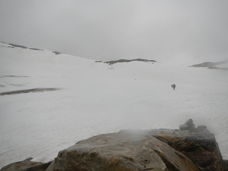 Rock Climbing Photo: Rainy day on the Grasshopper Glacier