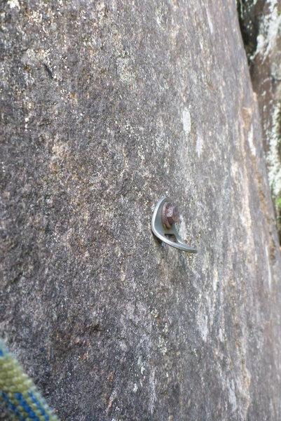 "Rock Climbing Photo: Steel Rawl 3/8"" x 2.5 Bashed by ice falls"