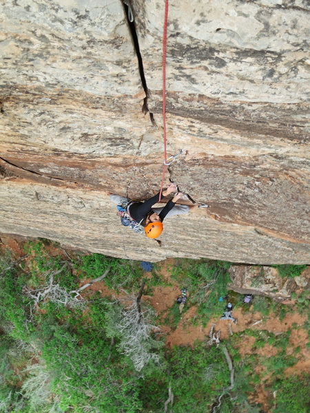 Rock Climbing Photo: Emily Reinsel on the stellar first pitch.