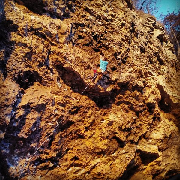 Rock Climbing Photo: Bob hopped aboard the wave train and shredded the ...