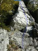Rock Climbing Photo: Le menhir 5.9