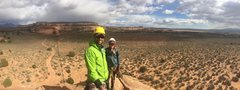 Rock Climbing Photo: Pano from the top. Weather shifted hard on us with...