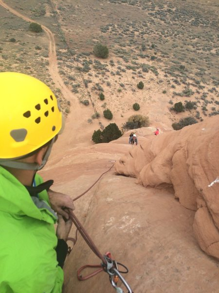 Working through second pitch. Easy climbing.