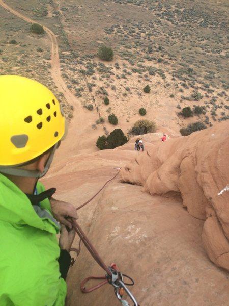 Rock Climbing Photo: Working through second pitch. Easy climbing.